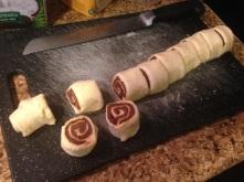 sliced cinnamon rolls